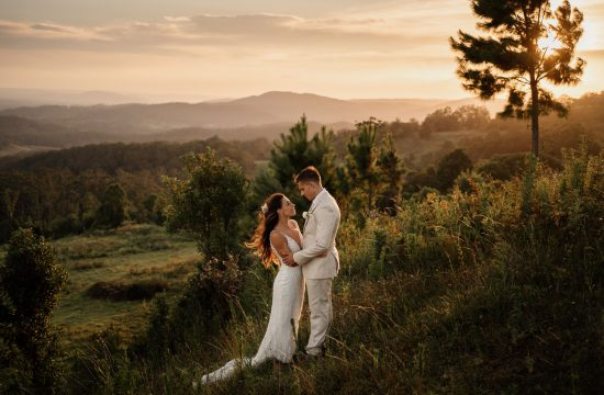 Weddings at Tiffanys Sunset with Bride and Groom