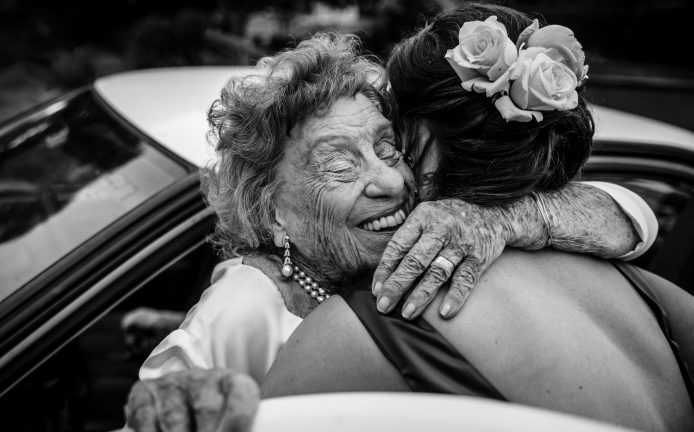 Southern Highlands Wedding Bride and Grandmother