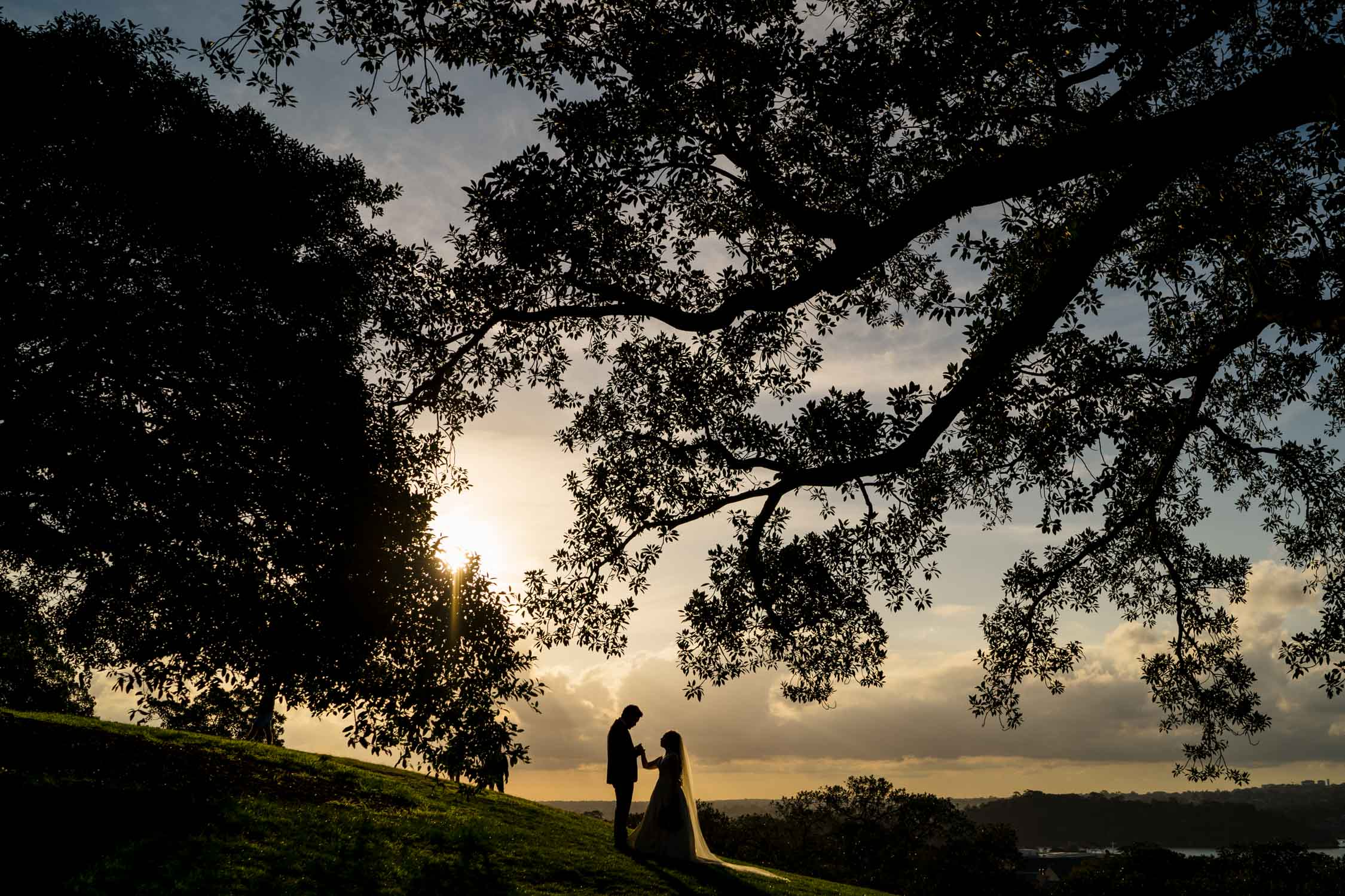 Observatory Hill Wedding Sunset