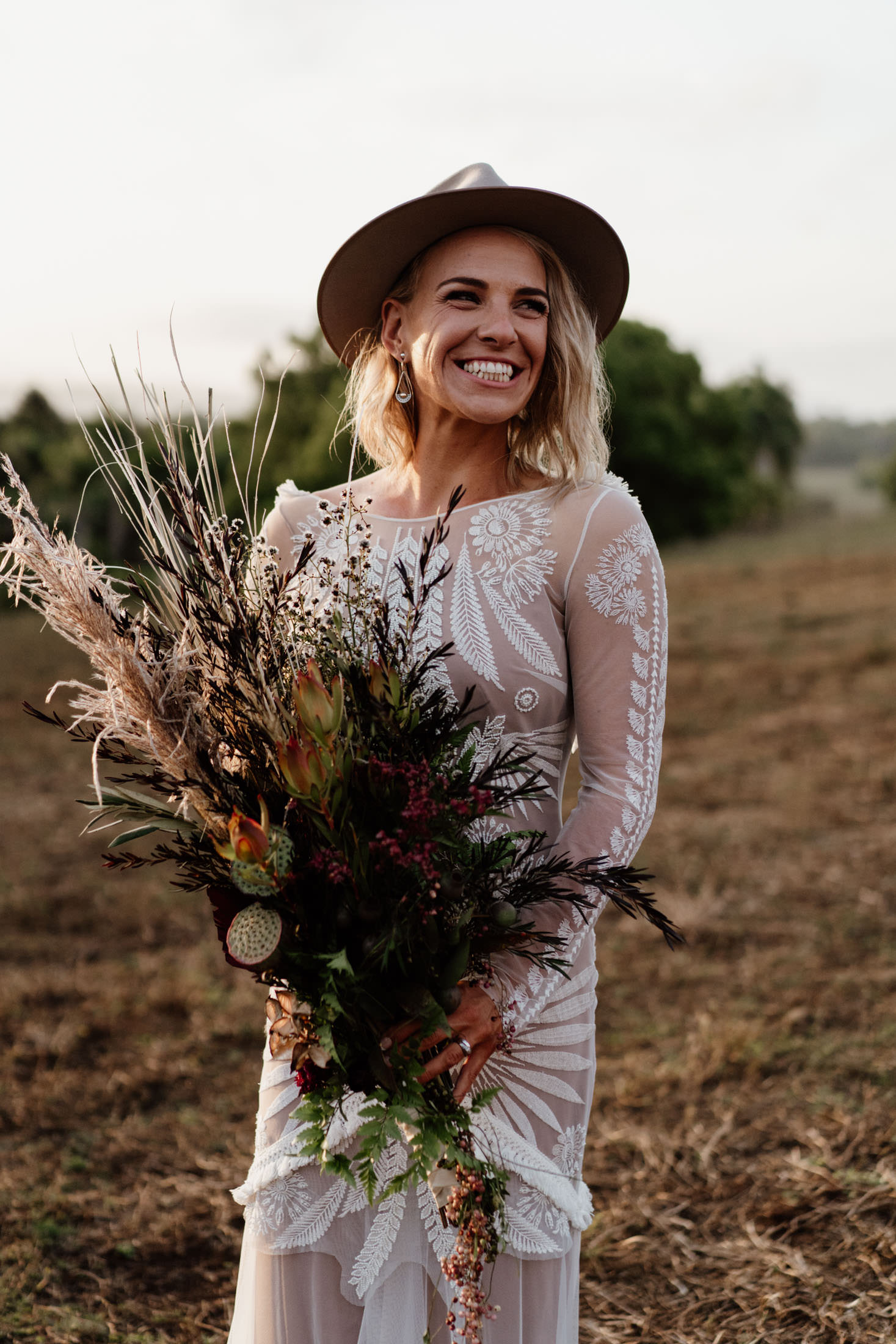 Tooraloo Farm Stay Wedding Byron Bay Bridal Portrait