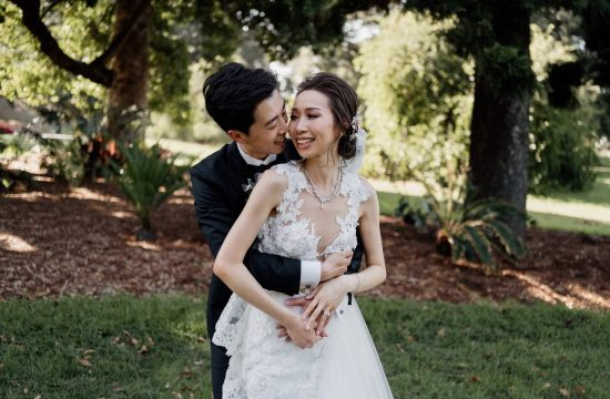 Bride and Groom Portraits at Royal Botanic Gardens Wedding