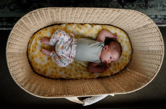 Newborn Photo Shoot baby in a basket