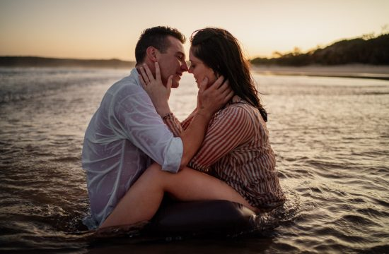 Yamba Pre Wedding Photography Couple in Water