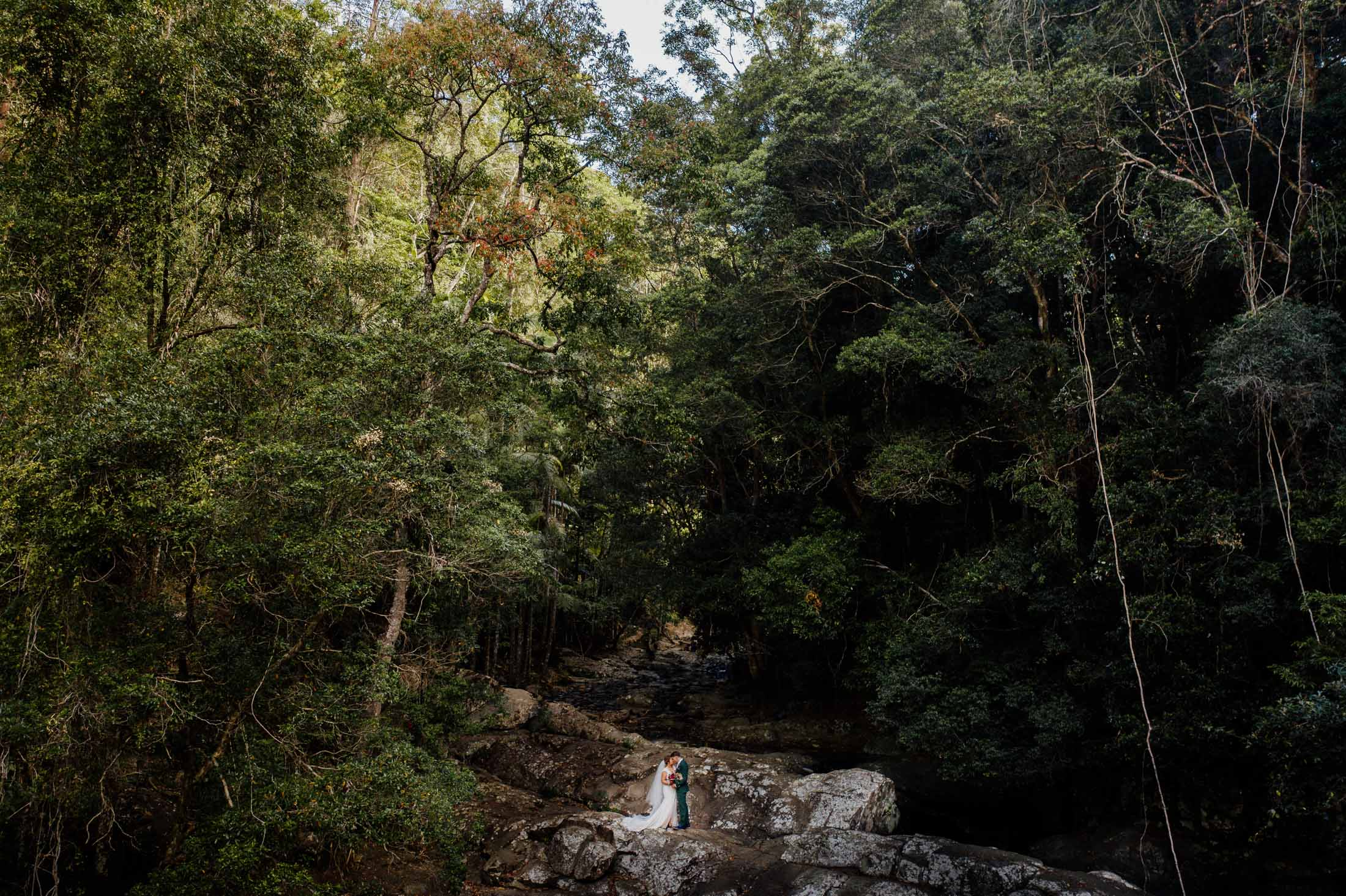 Gold Coast Hinterland Elopement at Cougal Cascades