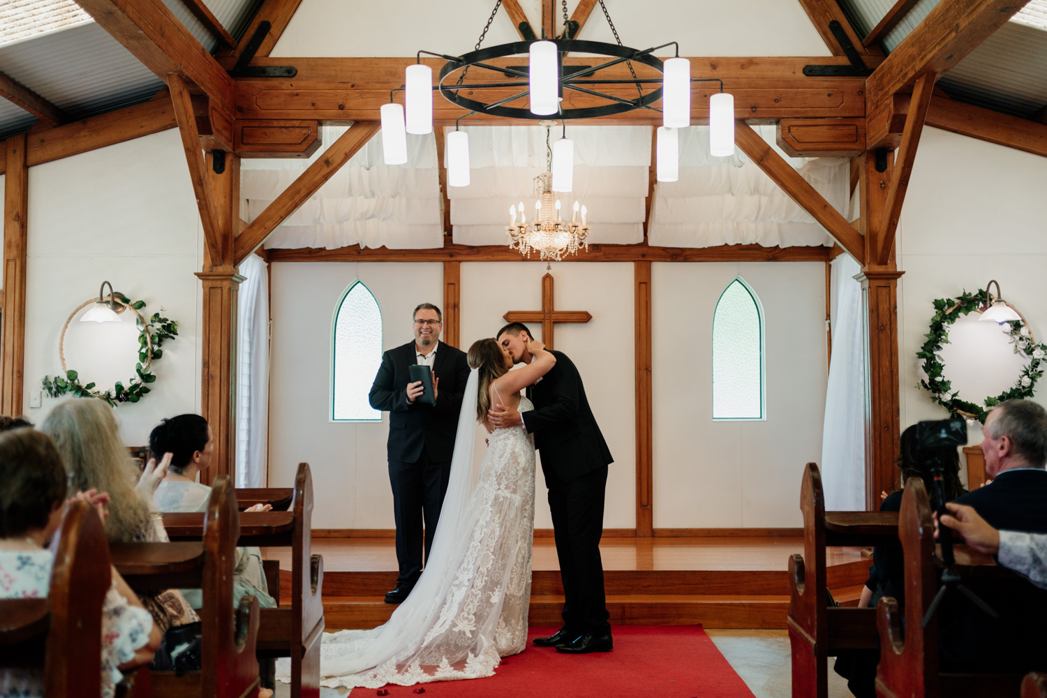 Pioneer Country Wedding Chapel First Kiss