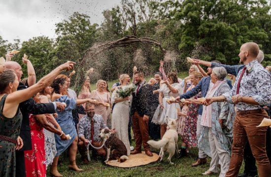 Gold Coast Farm House Wedding Lavender Toss